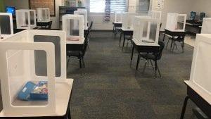 Modern socially distant classroom design