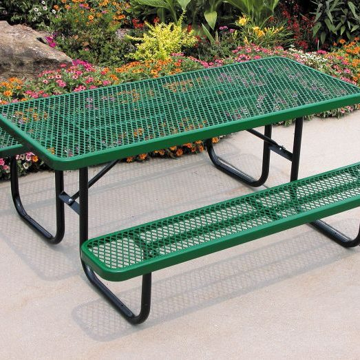 Outdoor picnic bench