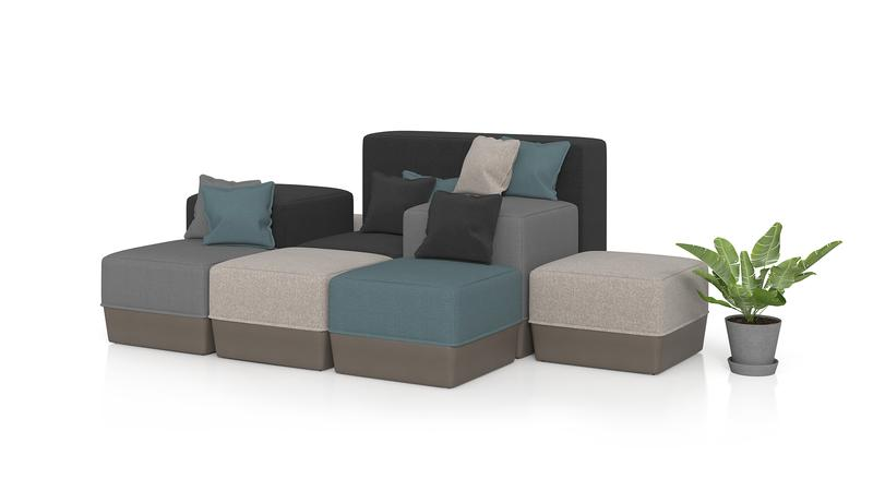 Box-style lounge chairs